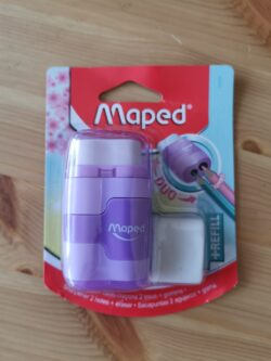 Duo Gomme - Taille-Crayons Connect Pastel rose Maped