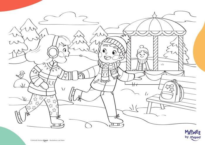 cahier de coloriages à imprimer gratuitement et jeux éducatifs sur le thème de noel - illustrations léa fabre 05