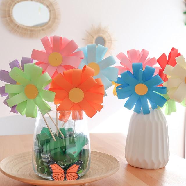Bouquet de fleurs en papier par le blog la brigade d'annaelle